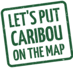 caribou on the map